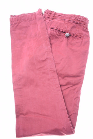 TED BAKER Womens Trousers W30 L30 Burgundy Cotton