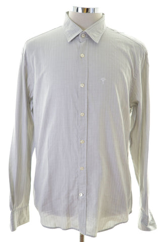 Joop Mens Shirt Large Grey Stripes Cotton