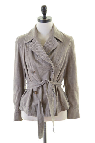 MONSOON Womens Double Brested Jacket Size 14 Medium Beige Black