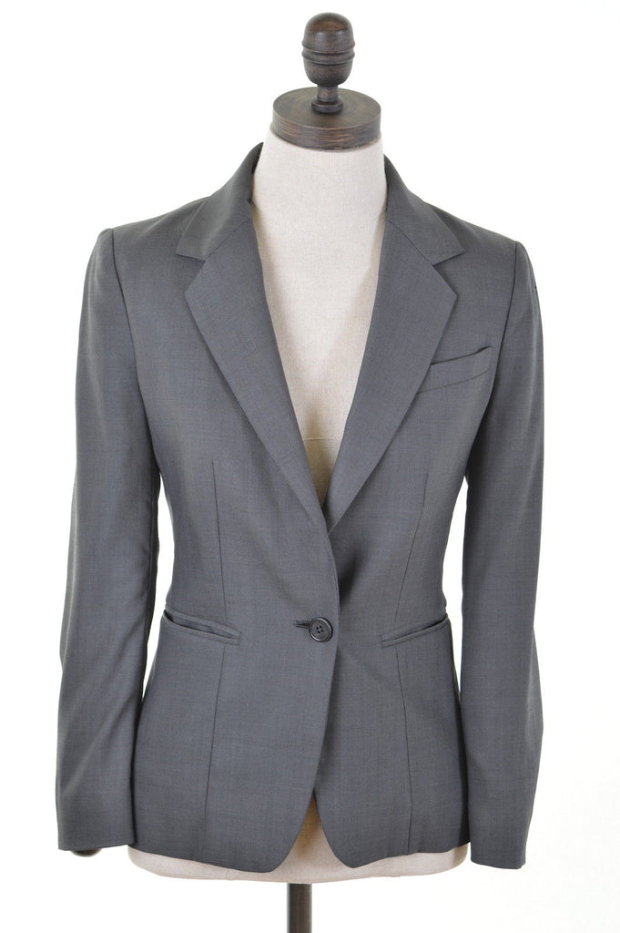 JOSEPH Womens Blazer Jacket Size 10 Small Grey - Second Hand & Vintage Designer Clothing - Messina Hembry