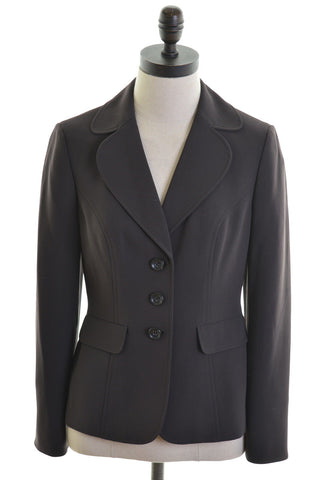 ANN TAYLOR Womens 3 Button Blazer Jacket Size 12 Medium Brown