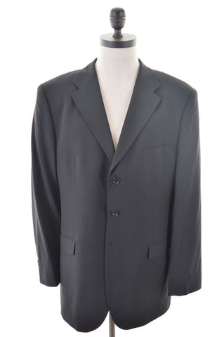MASSIMO DUTTI Mens 3 Button Blazer Jacket Size 42 Large Black Wool