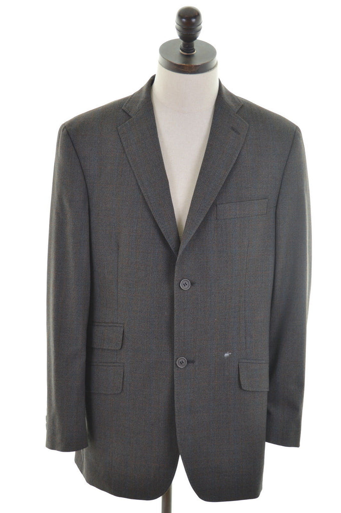 TED BAKER Mens 2 Button Blazer Jacket Size 40 Medium Brown Wool - Second Hand & Vintage Designer Clothing - Messina Hembry