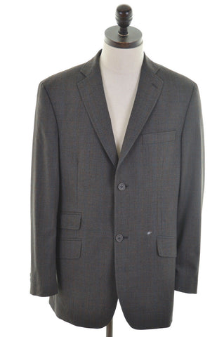 TED BAKER Mens 2 Button Blazer Jacket Size 40 Medium Brown Wool