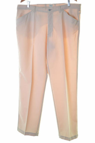 Calvin Klein Womens Trousers W40 L32 Beige Polyester Straight