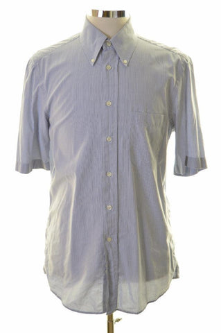 Hugo Boss Mens Shirt Size 39 15 1/2 Medium Blue Check Cotton