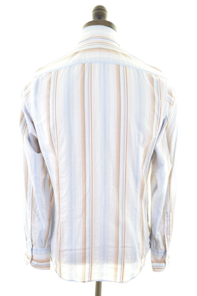 TED BAKER Mens Shirt Medium Multi Stripes Cotton - Second Hand & Vintage Designer Clothing - Messina Hembry