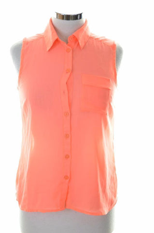 Amisu Womens Blouse Shirt Sleeveless Size 6 XS Pink