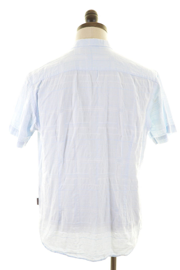 TED BAKER Mens Shirt Large Blue - Second Hand & Vintage Designer Clothing - Messina Hembry