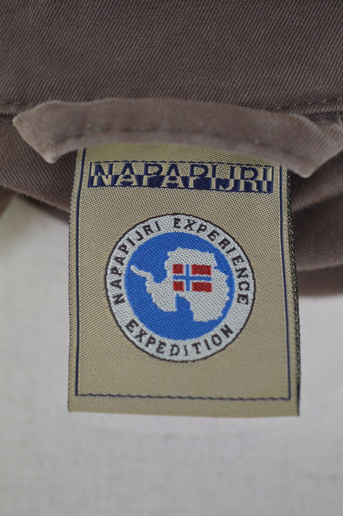 NAPAPIJRI Womens Jacket Size 10 Small Brown Cotton - Second Hand & Vintage Designer Clothing - Messina Hembry