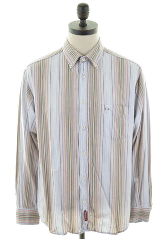 CARRERA Mens Shirt Large Multi Stripes Cotton