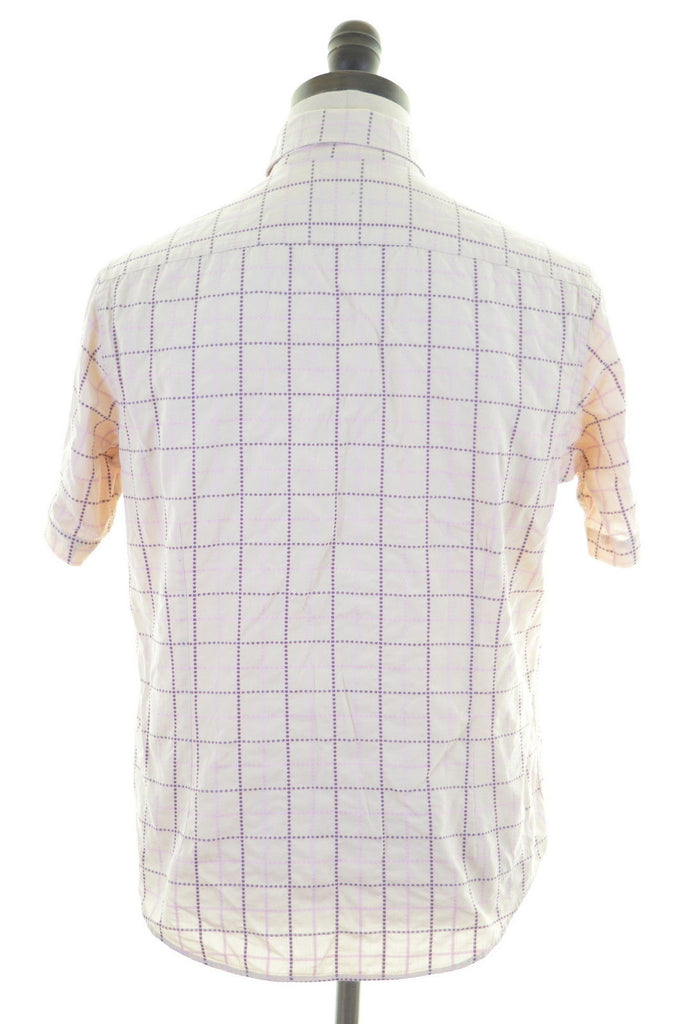 TED BAKER Mens Shirt Medium Multi Windowpane Cotton - Second Hand & Vintage Designer Clothing - Messina Hembry