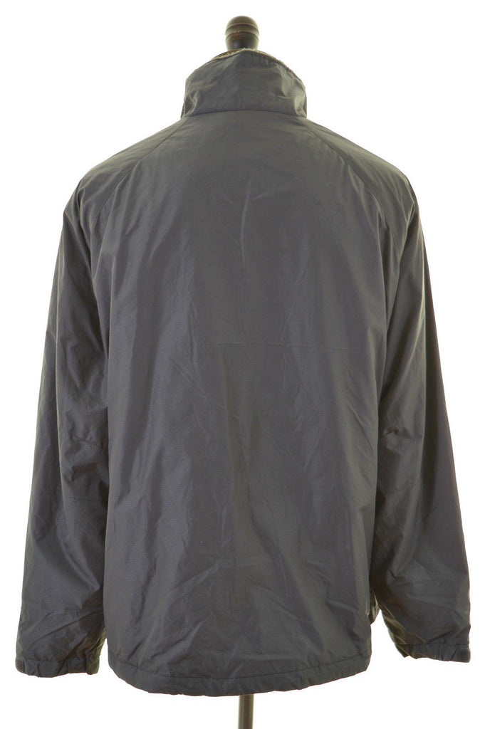 WOOLRICH Mens Waterproof Jacket Size 46 XL Grey Nylon - Second Hand & Vintage Designer Clothing - Messina Hembry