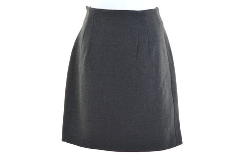 TREND LES COPAINS Womens Skirt W28 L20 Grey Wool