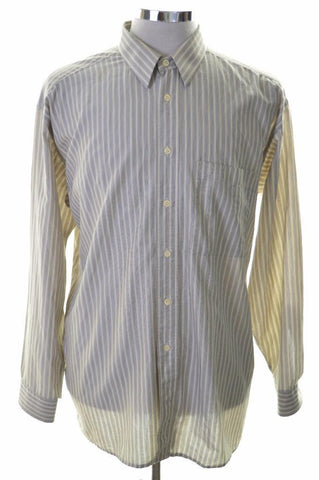 Pierre Cardin Mens Shirt Size 43 Large Multi Stripes