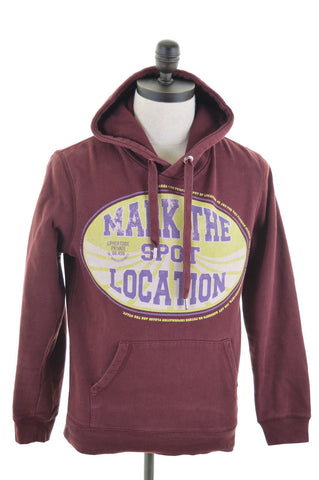 JACK   JONES Mens Hoodie Jumper Small Burgundy Cotton ed2789a97