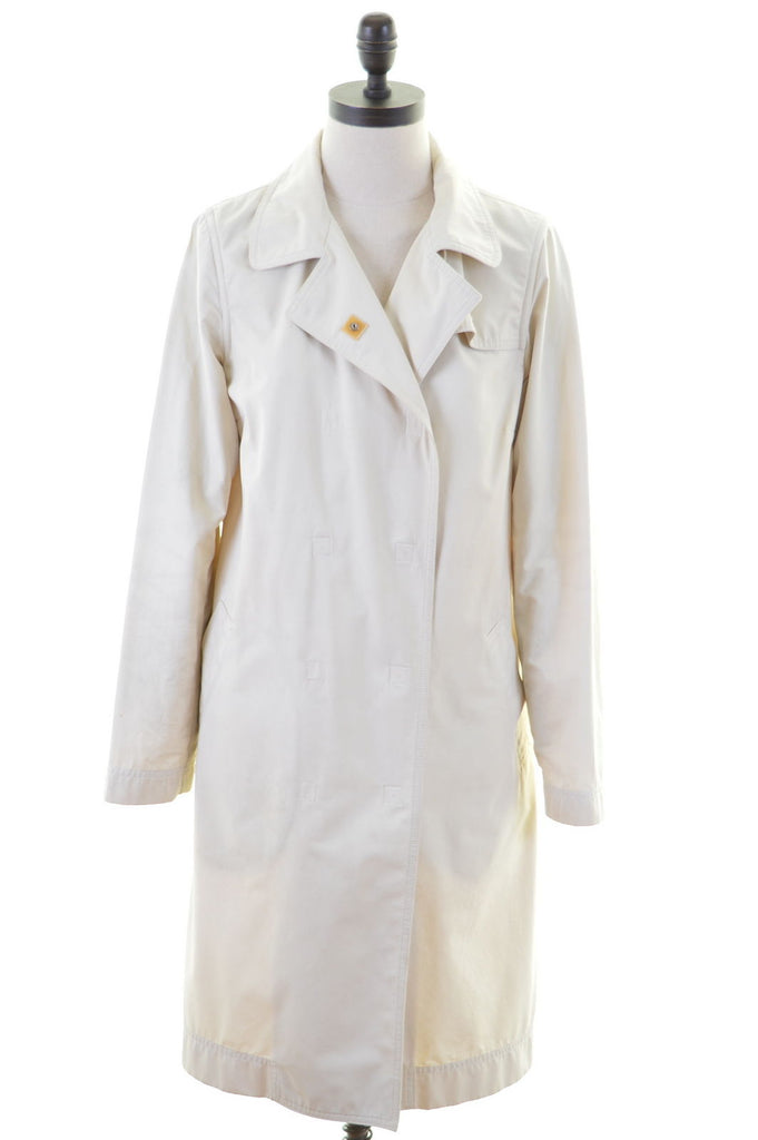 LACOSTE Womens Swing Coat Size 42 14 Medium Beige Cotton - Second Hand & Vintage Designer Clothing - Messina Hembry