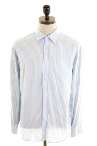 CALVIN KLEIN Mens Shirt Medium Blue Stripes Cotton