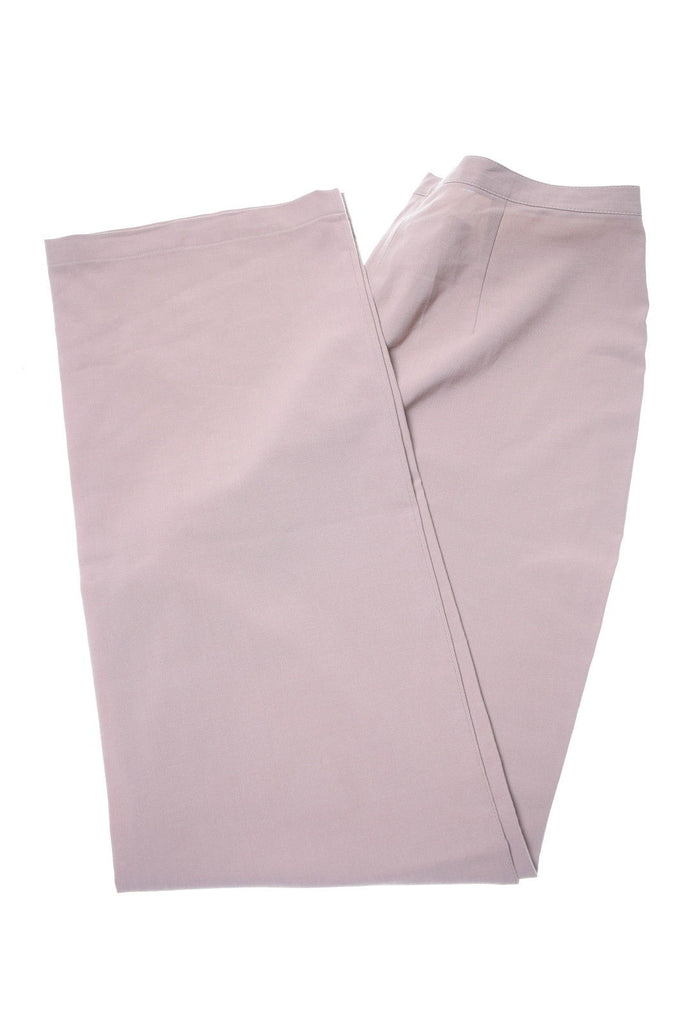LORENZO PUCCI Womens Trousers W28 L30 Beige Polyester - Second Hand & Vintage Designer Clothing - Messina Hembry