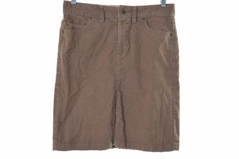 Timberland Womens Corduroy Skirt W26 Brown Cotton Elastane