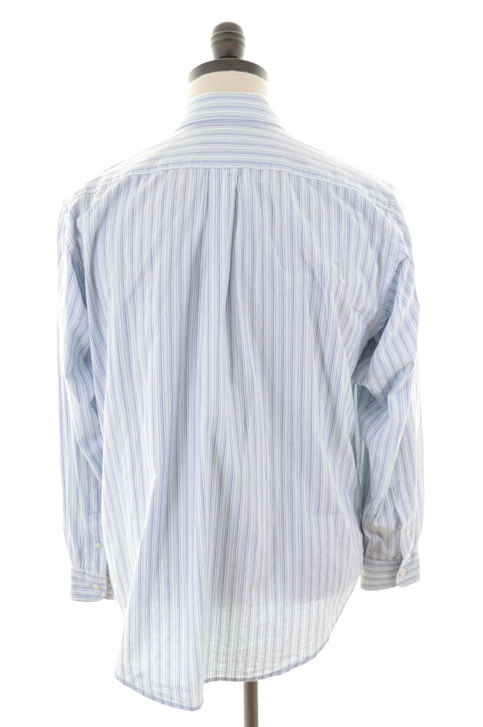 RALPH LAUREN Mens Shirt Large Blue Stripes Cotton - Second Hand & Vintage Designer Clothing - Messina Hembry