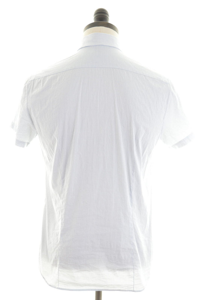 Patrizia Pepe Mens Shirt Small White Shepherd's Check Cotton - Second Hand & Vintage Designer Clothing - Messina Hembry