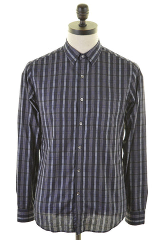 DKNY Mens Shirt Small Multi Check Cotton