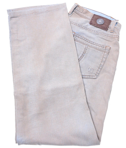 TRUSSARDI Womens Jeans W32 L30 Brown Cotton Straight