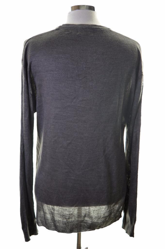Pierre Cardin Mens Jumper Sweater XL Grey Acrylic - Second Hand & Vintage Designer Clothing - Messina Hembry