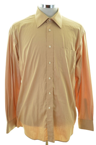 Daniel Hechter Mens Shirt Size 42 Large Brown