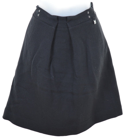 TRUSSARDI Womens Skirt W30 L19 Black Wool