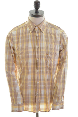 Carrera Mens Shirt Medium Multi Check Cotton