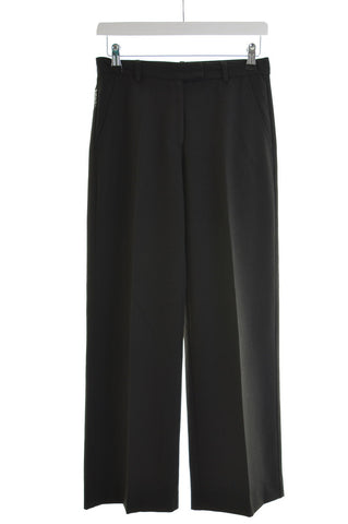 Armani Womens Trousers W26 L28 Black Polyester Straight