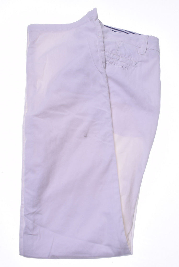 NORTH SAILS Womens Trousers W29 L32 White Cotton - Second Hand & Vintage Designer Clothing - Messina Hembry