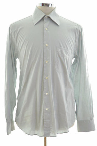 Cacharel Mens Shirt Size 40 Medium Grey Cotton