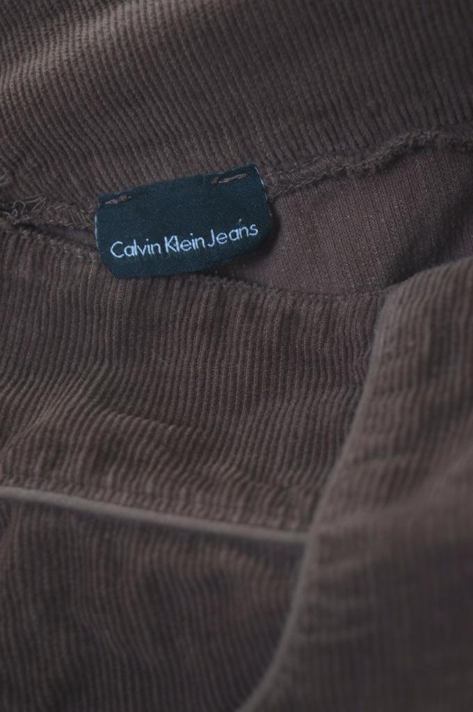 Calvin Klein Womens Corduroy Skirt W28 Brown - Second Hand & Vintage Designer Clothing - Messina Hembry