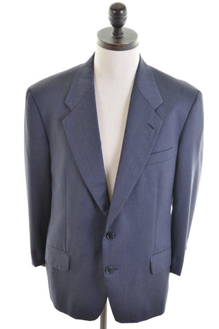 VALENTINO Mens 2 Button Blazer Jacket Size 40 Medium Navy Blue Viscose