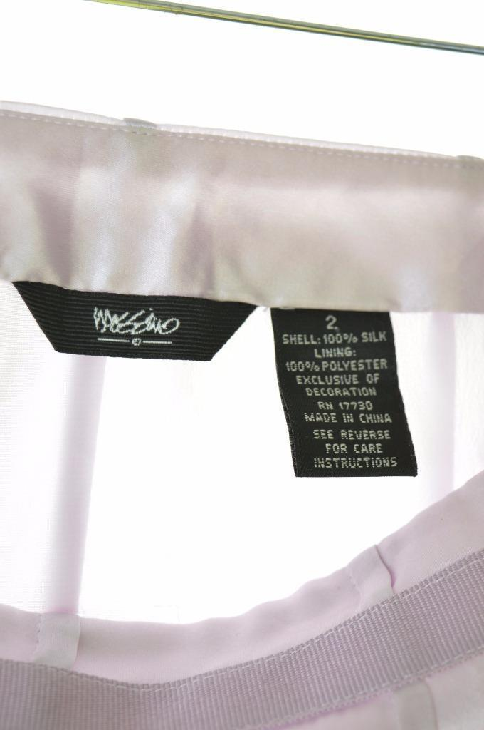 Mossimo Womens Skirt Size 2 W28 Lilac Silk Polyester - Second Hand & Vintage Designer Clothing - Messina Hembry