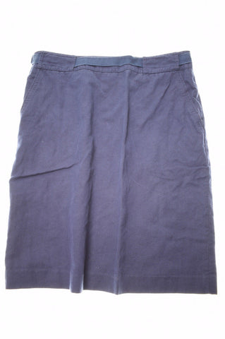 JIGSAW Womens A-Line Skirt W32 L21 Navy Blue Cotton