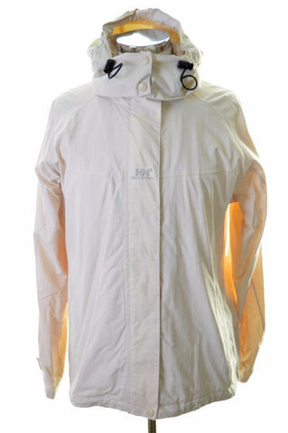 Helly Hansen Womens Windbreaker Jacket Size 14 Medium Beige Nylon Polyurethane