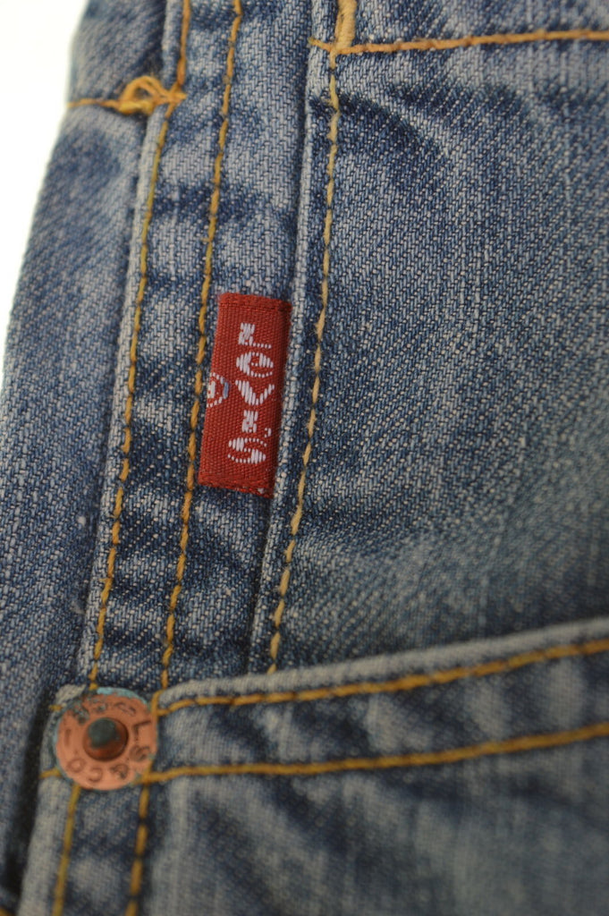 LEVI'S 565 Womens Low Waist Jeans W30 L32 Blue Cotton Straight - Second Hand & Vintage Designer Clothing - Messina Hembry