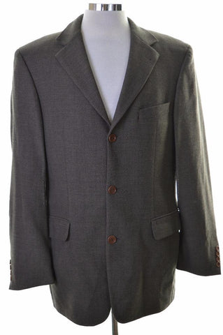 Hugo Boss Mens Blaze Jacket Size 40 Medium Grey Wool Rayon