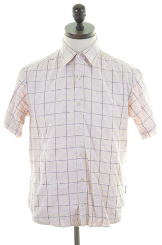 TED BAKER Mens Shirt Medium Multi Windowpane Cotton