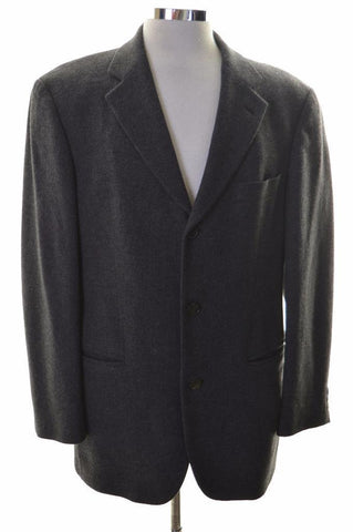 Hugo Boss Mens Blazer Jacket Size 40 Medium Grey Nylon Wool Polyamide