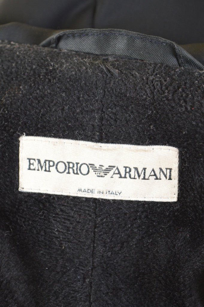 ARMANI Womens Jacket Size 14 Large Black - Second Hand & Vintage Designer Clothing - Messina Hembry