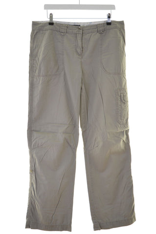 Crew Clothing Co. Womens Trousers W34 L32 Grey Cotton Straight