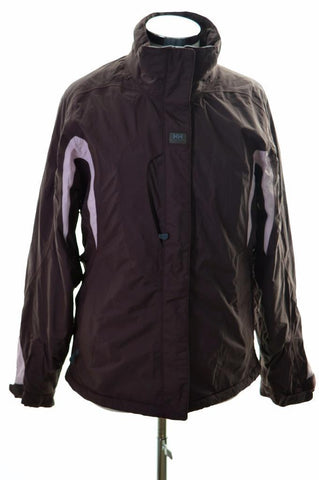 Helly Hansen Womens Windbreaker Jacket Size 12 Medium Burgundy Nylon Polyester