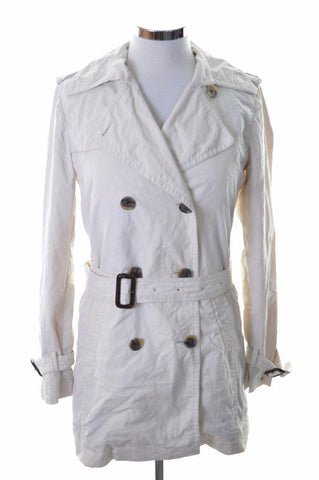 Tommy Hilfiger Womens Trench Jacket Small Beige Cotton Nylon