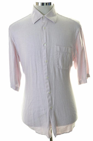 Hugo Boss Mens Shirt Size 16 1/2 42 Large Pink Cotton