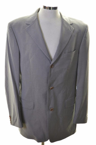 Hugo Boss Mens Blazer Jacket Size 42 Large Grey Viscose New Wool